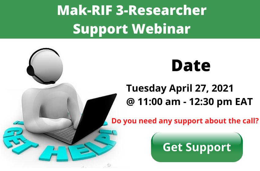 Mak-RIF 3 Support Webinar on Tuesday April 27, 2021