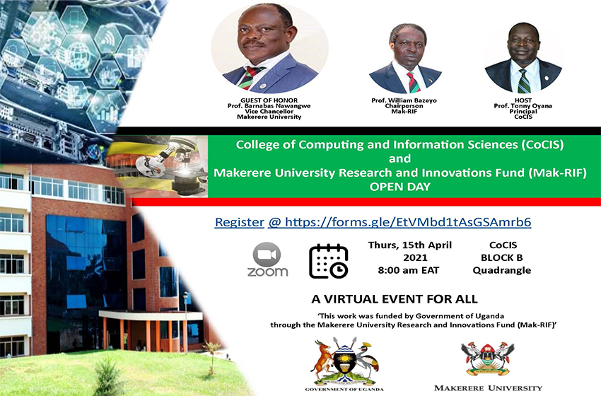Join the Makerere University CoCIS and RIF Open Day