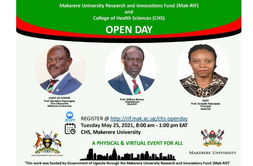 Makerere University  Research and Innovations Fund and College of Health Sciences Open Day