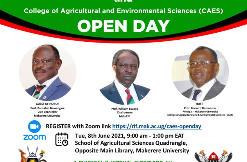MAk RIF – CAES Open day on Tuesday 8th June 2021